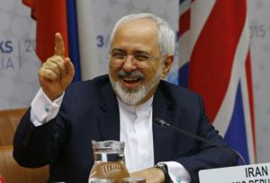 Iranian Foreign Minister Mohammad Javad Zarif reacts during a plenary session at the United Nations building in Vienna, Austria July 14, 2015. REUTERS/Leonhard Foeger