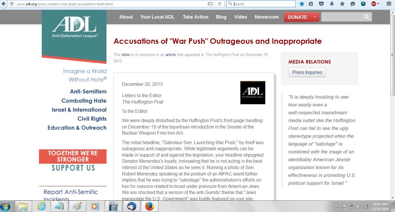 ADL war push complaint