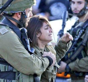 Female officer IDF at Mizrahi funeral