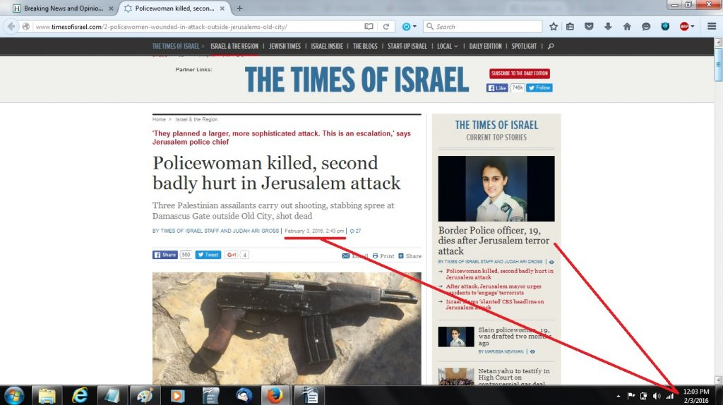 03Feb Isr policewomen killed in Pal attack - 1205p - HP nothing