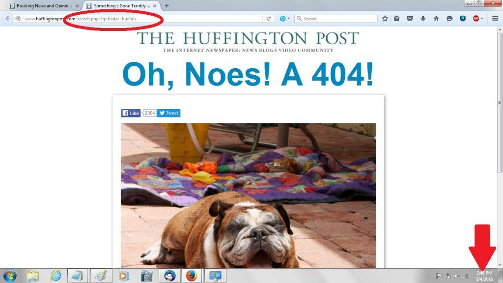 04Mar16 search Hadar Buchris - 404 page markup