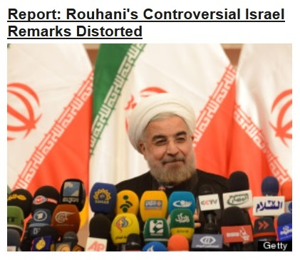 02Aug13 WPHL IRAN PRES ISRAEL COMMENT DISTORTED callout