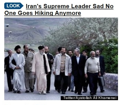 19June13 Khameini NO ONE GOES HIKING ANYMORE callout