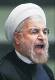 Rouhani screaming