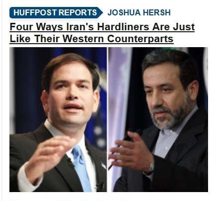 25Oct13 IRAN HARDLINERS JUST LIKE CONSERVATIVES - callout